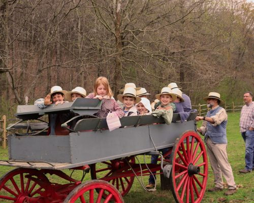 Homeschoolers in Wagon