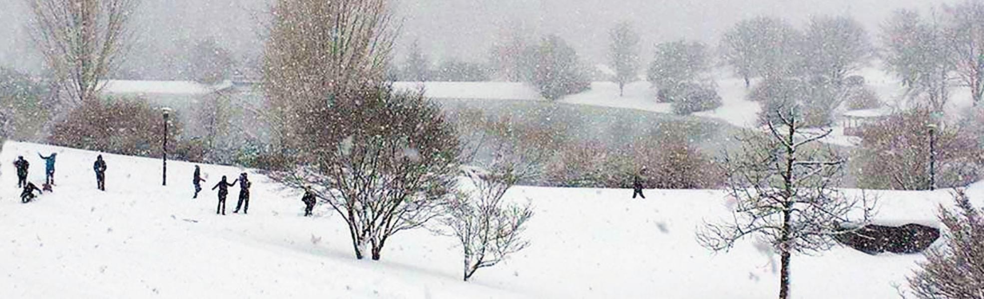 Ferrum College snow day