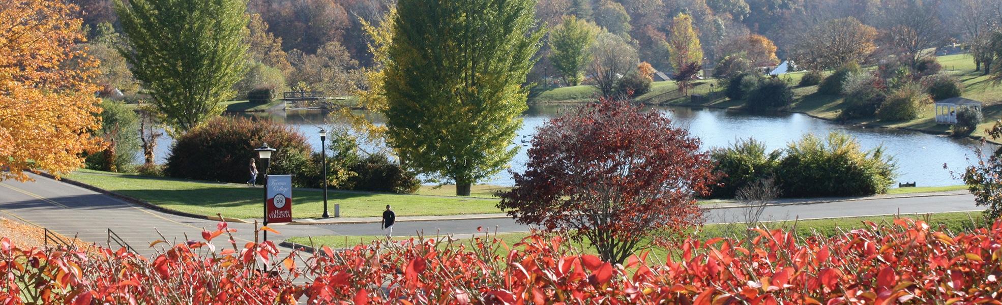 Ferrum College Adams Lake in the Fall