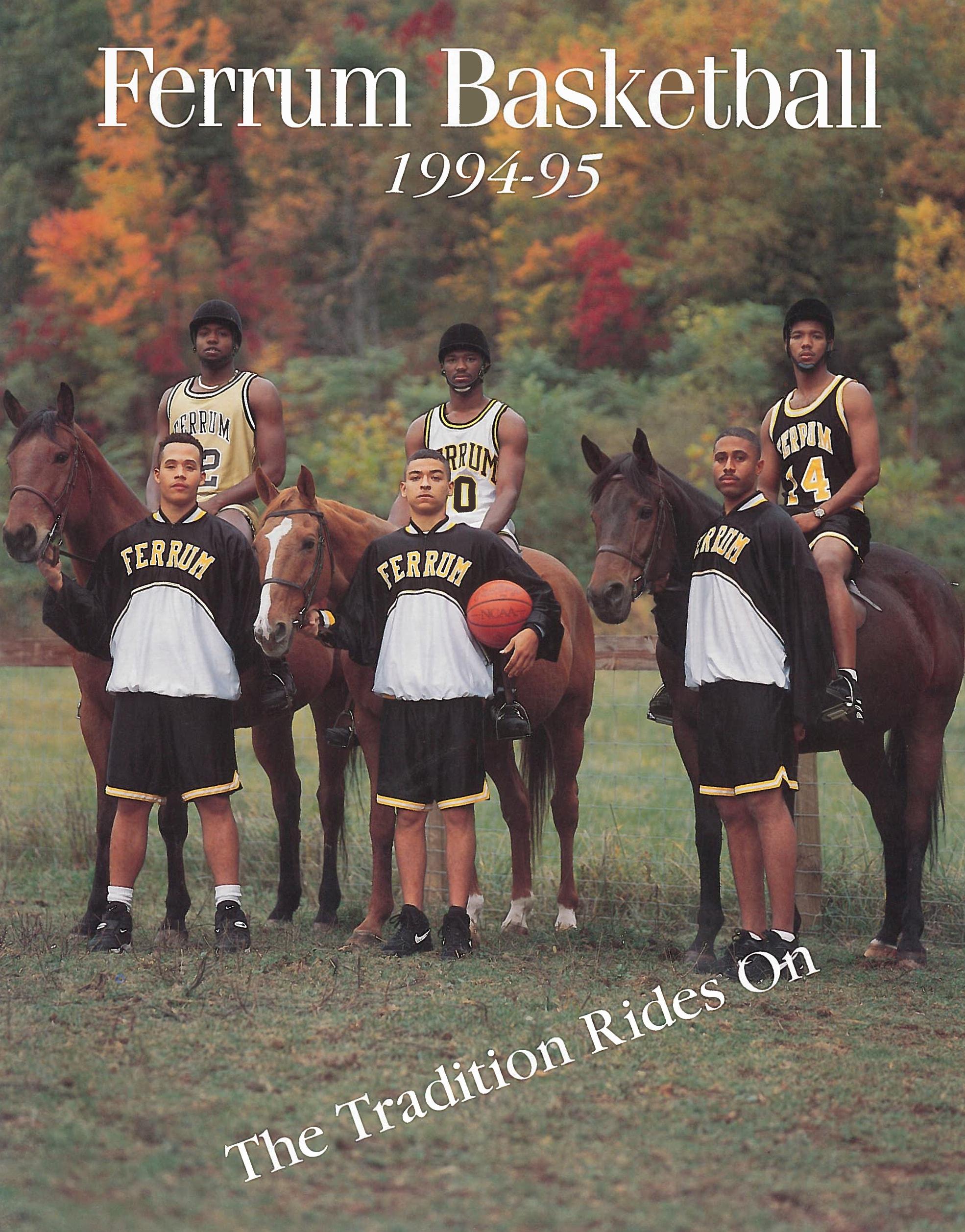 Ferrum Panthers Men's Basketball Program 94-95