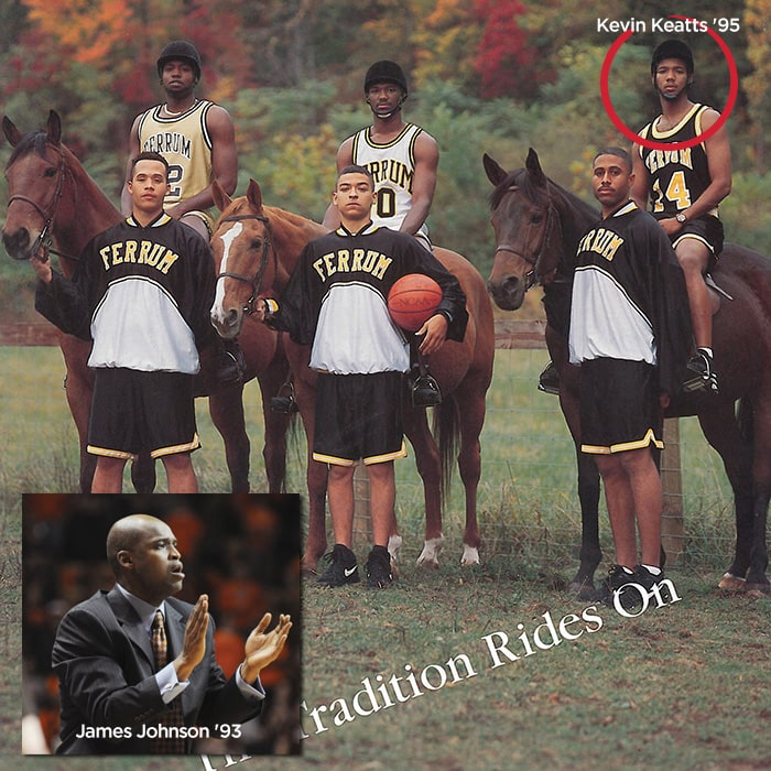 Former Ferrum Panthers Kevin Keatts '95 and James Johnson '93