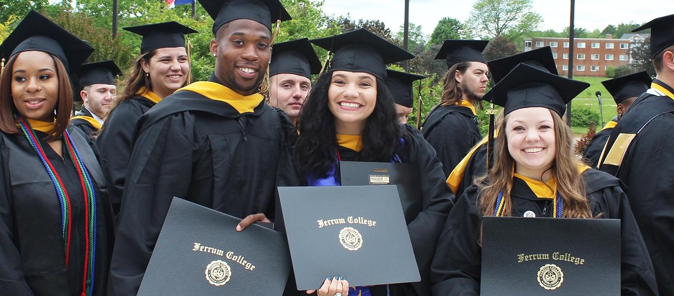 Ferrum College graduates