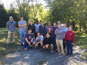 Dr. Tina Hanlon (far right) with the Appalachian Cluster 2016 field trip to Saltville, St. Paul, Dante, Pound, and Wise, VA as well as Lynch, KY.