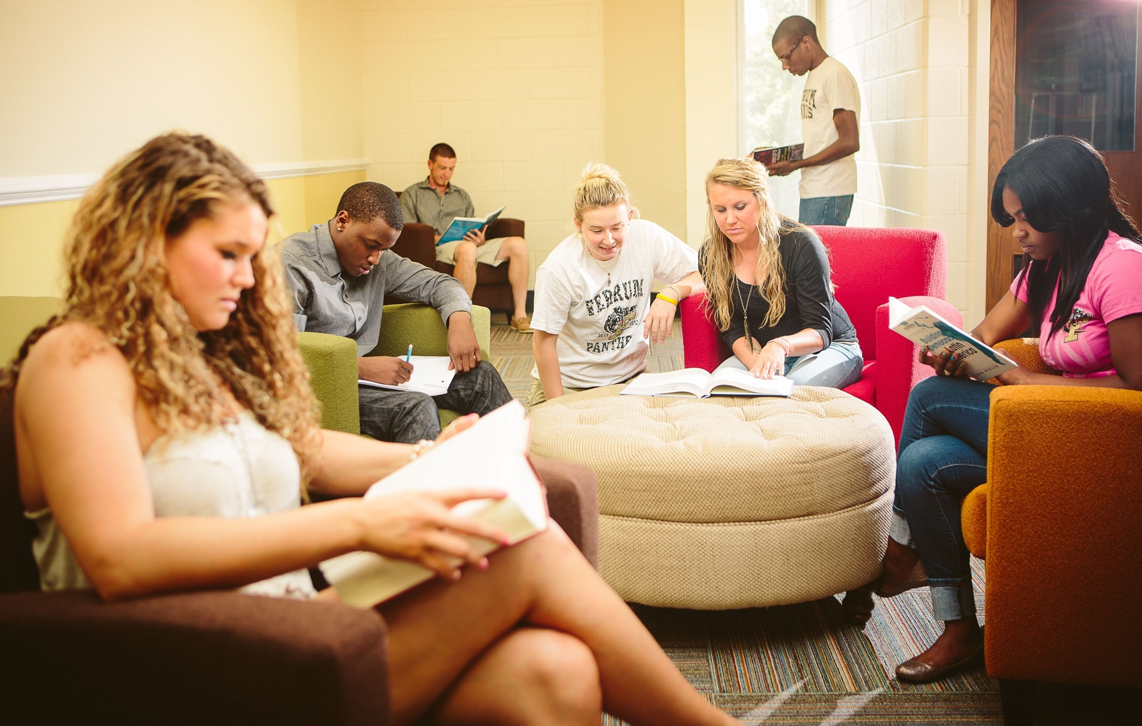 Ferrum College study lounge
