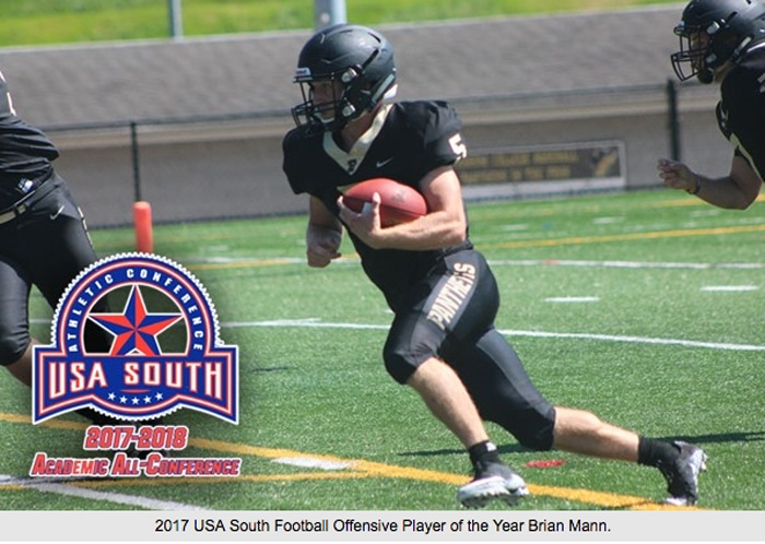 USA South Football Offensive Player of the Year Brian Mann