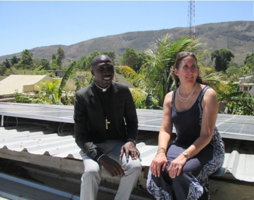 Delia Heck, associate professor of environmental science, spends sabbatical year working on solar energy projects in Haiti