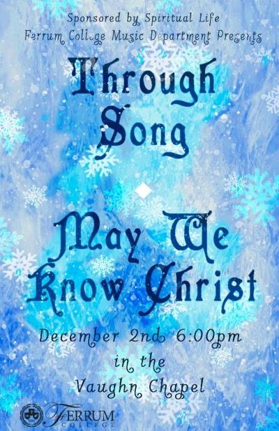 Ferrum College Christmas Concert Poster by Rachel Hancock