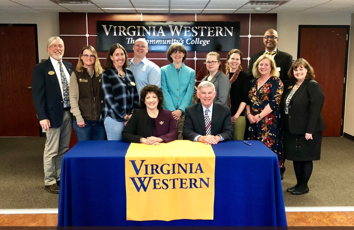 Articulation agreement signing photo by Virginia Western Community College.