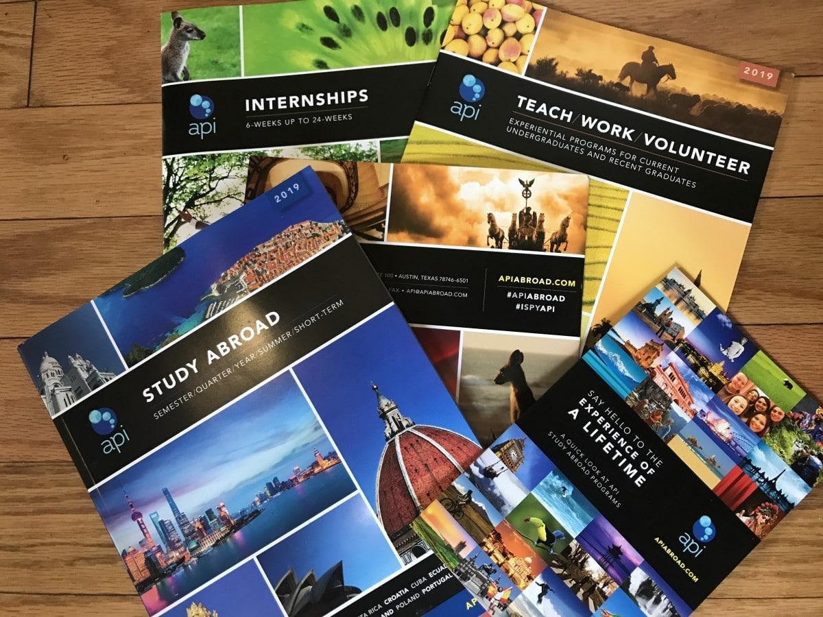 API Abroad brochures
