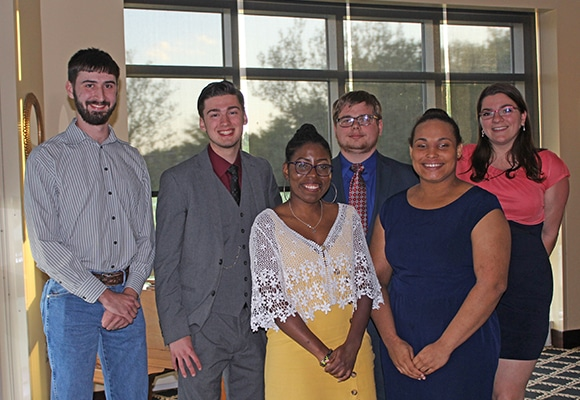 Ferrum College Boone Honors Program seniors were celebrated during a banquet on April 28, 2019.
