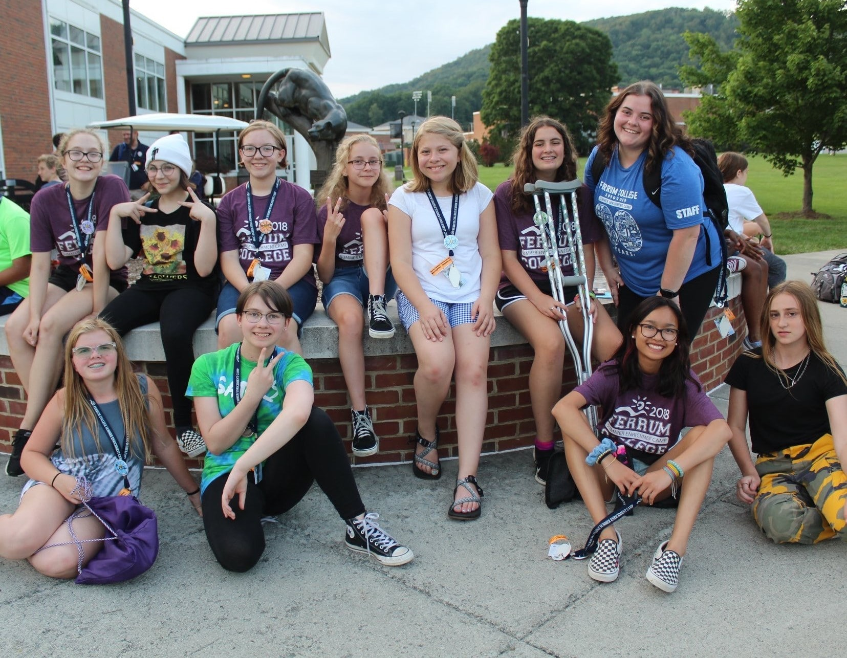 Raven Martin served as camp counselor for the 30th annual Summer Enrichment Camp.