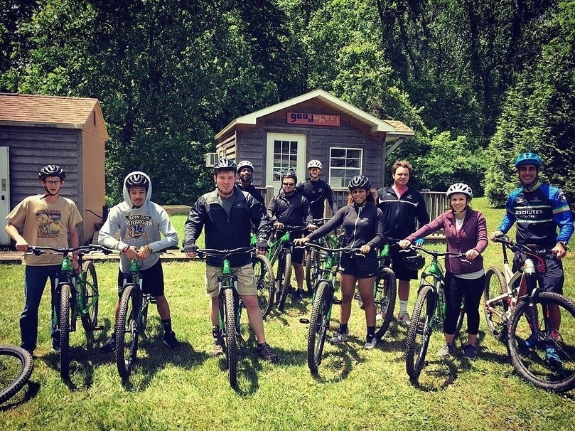Mountain biking was offered as an E-Term course at Ferrum College this May 2019.