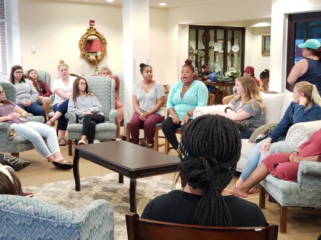 Current students, faculty, and alumni met on campus on September 9 to talk about their professional social work journeys.