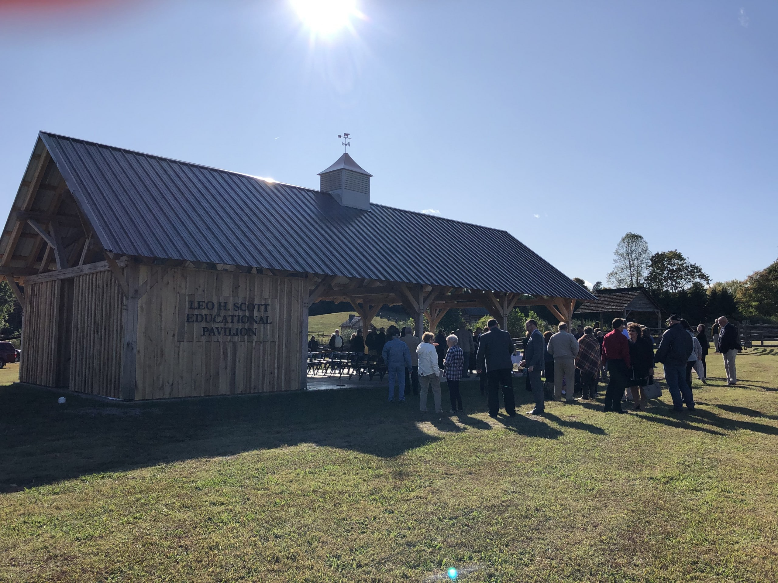The Leo H. Scott Educational Pavilion ribbon cutting was held October 16, 2019.
