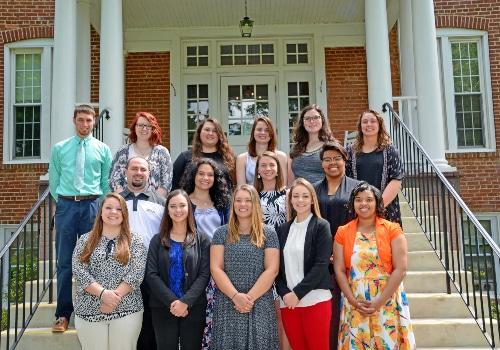 Ferrum College's class of 2017 teacher education graduates.