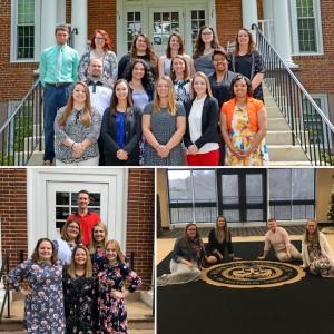 Ferrum College teacher education program graduates: spring 2017 (top); spring 2018 (left); fall 2018 (right).