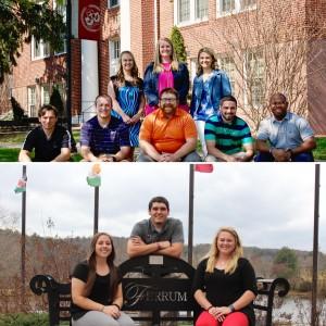 Ferrum College teacher education program graduates: spring 2016 (top); fall 2016 (bottom).
