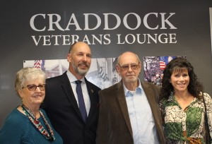 Members of the Craddock family were present for the Craddock Veterans Lounge unveiling on Veterans Day, November 11, 2019.