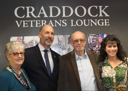 New Craddock Veterans Lounge Unveiled in Stanley Library on Veterans Day 2019