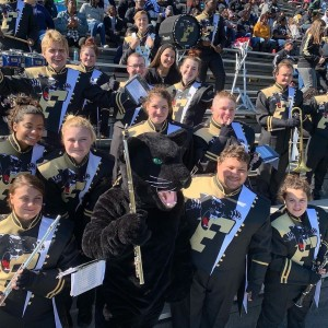 Ferrum College's new marching band uniforms were revealed during the Senior Day football game on November 2, 2019.