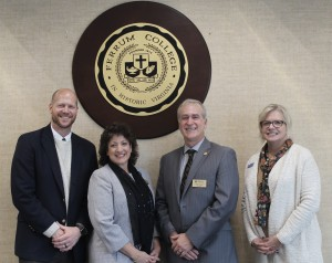Ferrum College and Lord Fairfax Community College officials signed an agreement guaranteeing admission into the Ferrum College recreation leadership program to LFCC students who have received an Associate of Science degree in recreation and outdoor leadership.