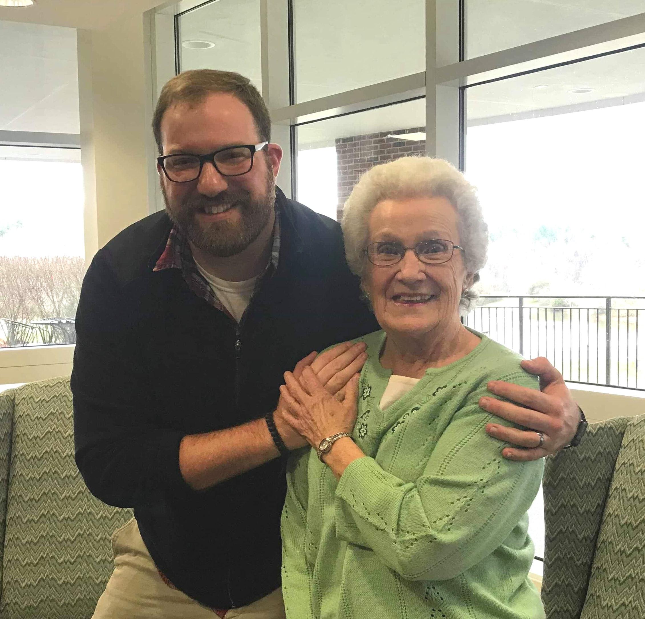 Loretta McGhee with her grandson Brandon.