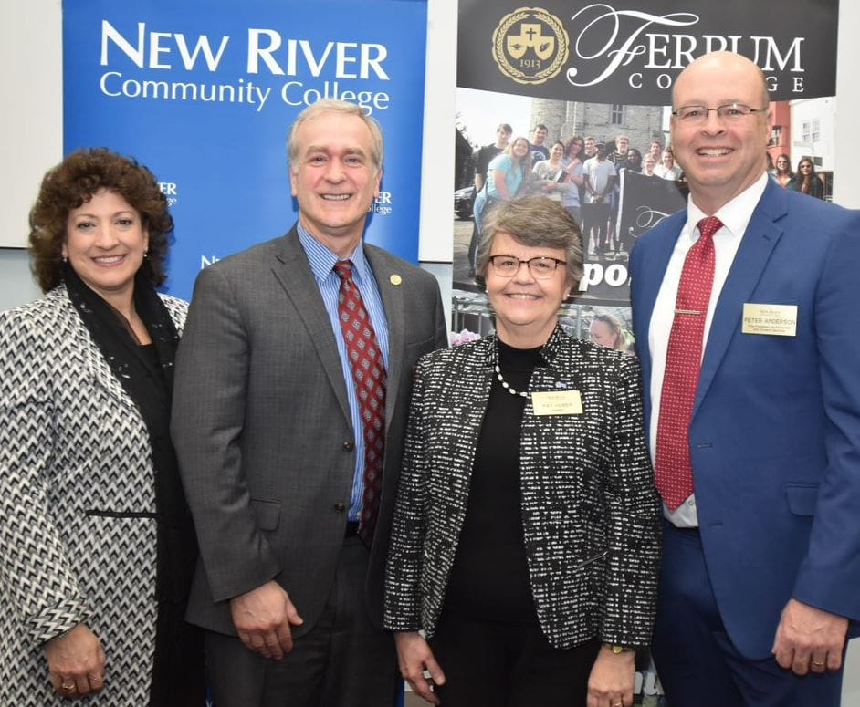 Ferrum College and New River Community College signed an articulation agreement February 26, 2020 on the NRCC campus.