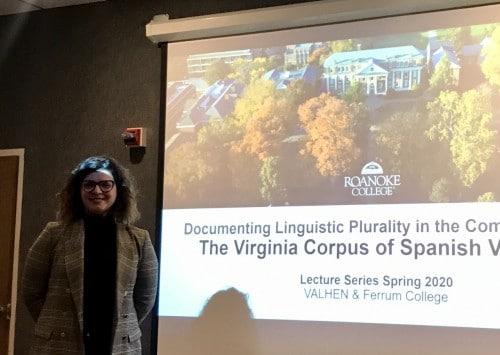 Public talk by visitor, Dr. Alba Arias Álvarez
