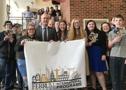 Jessa King's Franklin County High students come to visit