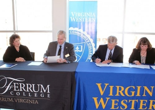 Ferrum College & Virginia Western Community College Sign Agreement to Provide Pathway to Four-Year Degrees
