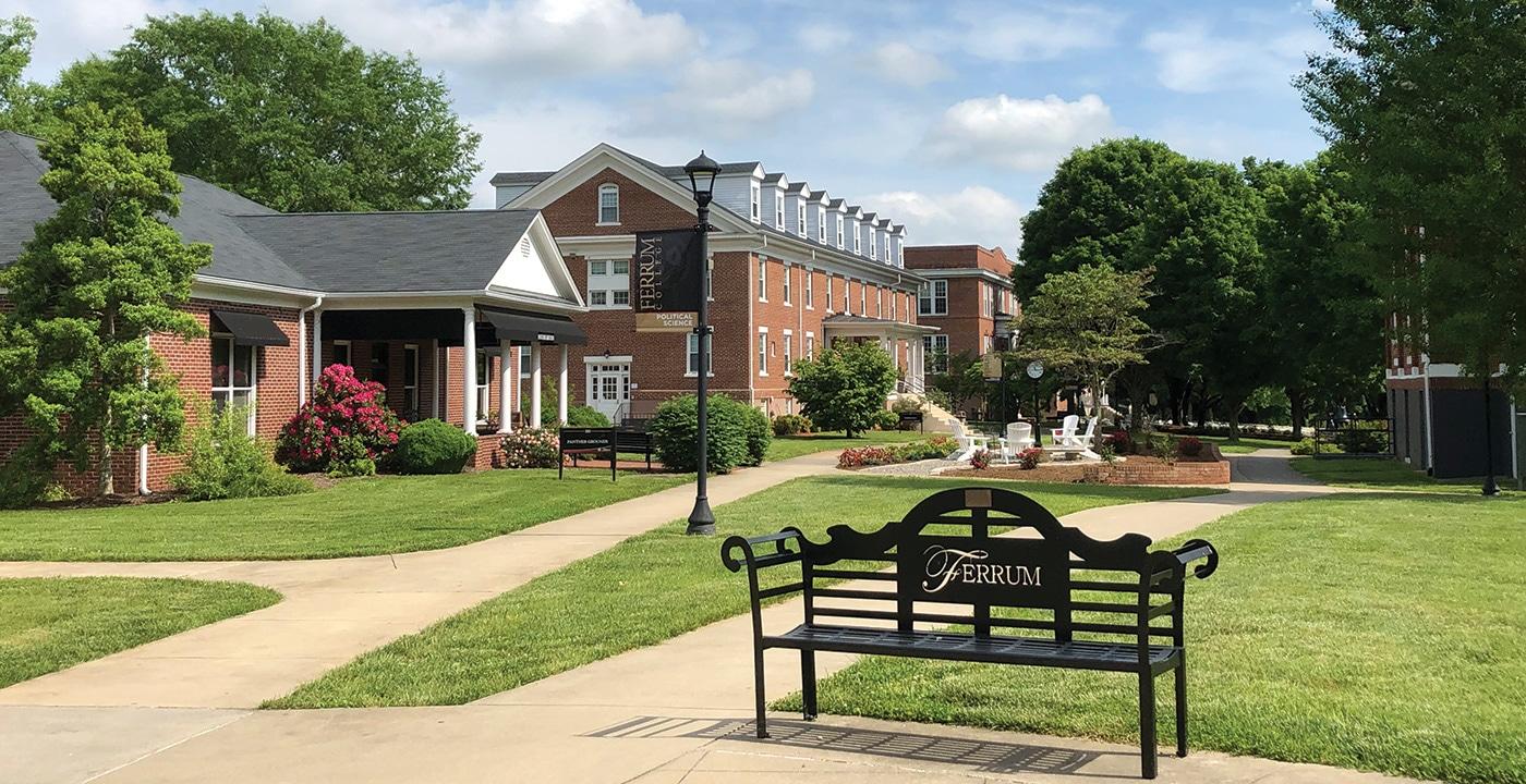 Ferrum College campus in summer