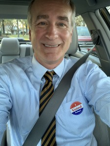 Ferrum College President David Johns encourages all to exercise their right to vote.