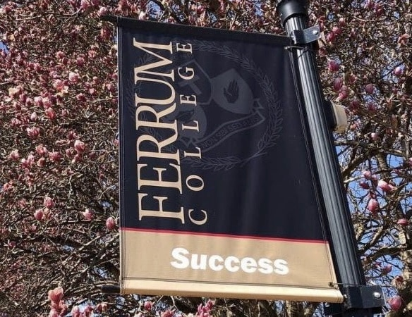 Ferrum College Success Banner in Spring