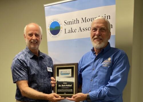 Professor Emeritus Bob Pohlad Receives Melvin Johnston Award from Smith Mountain Lake Association