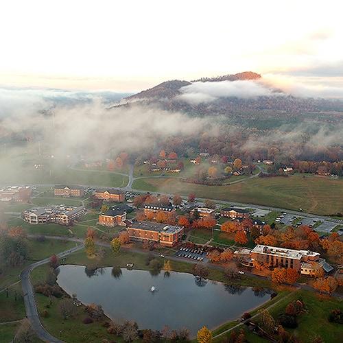 Ferrum College campus aerial photo by alumnus West Nuttycombe, Jr.